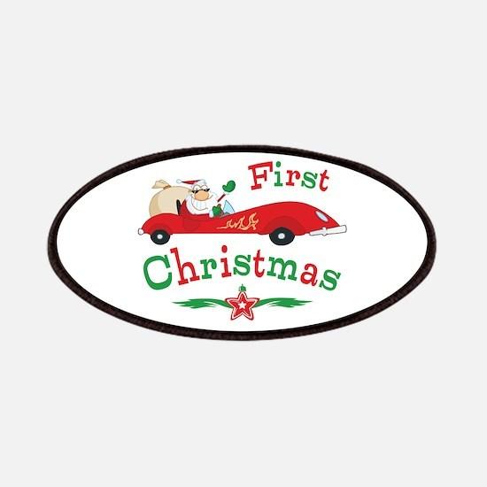 Race Santa 1st Christmas Patches