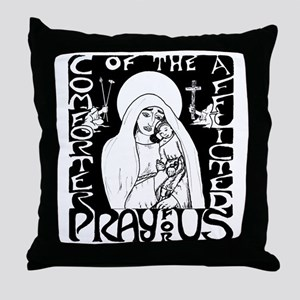 Comforter of the Afflicted Throw Pillow