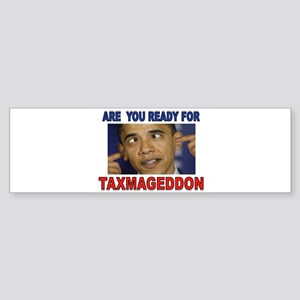 TAXMAGEDDON Sticker (Bumper)