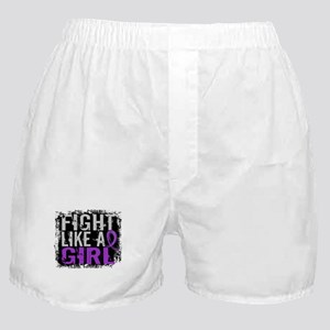 Licensed Fight Like a Girl 31.8 Epile Boxer Shorts