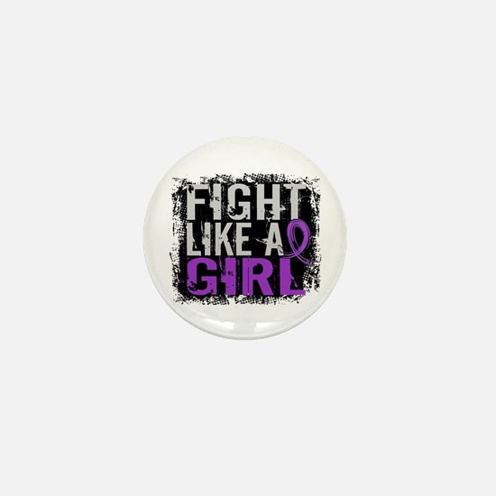 Licensed Fight Like a Girl 31.8 Epilep Mini Button