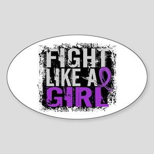 Licensed Fight Like a Girl 31.8 Epi Sticker (Oval)