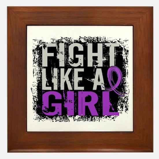 Licensed Fight Like a Girl 31.8 Epilep Framed Tile