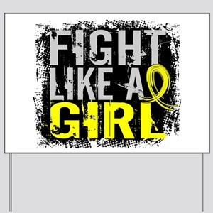 Licensed Fight Like a Girl 31.8 Endometr Yard Sign