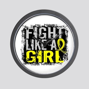 Licensed Fight Like a Girl 31.8 Endomet Wall Clock