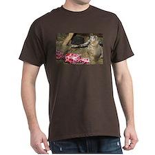 Chipmunk With Present Dark T-Shirt
