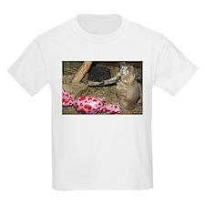 Chipmunk With Present Kids Light T-Shirt