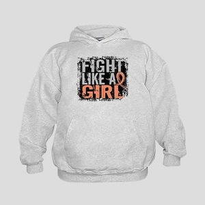 Licensed Fight Like a Girl 31.8 Endome Kids Hoodie