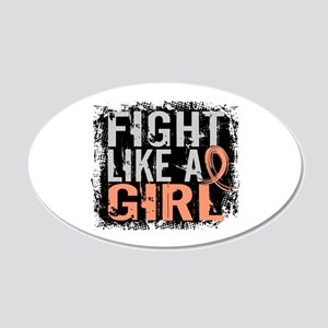 Licensed Fight Like a Girl 3 20x12 Oval Wall Decal