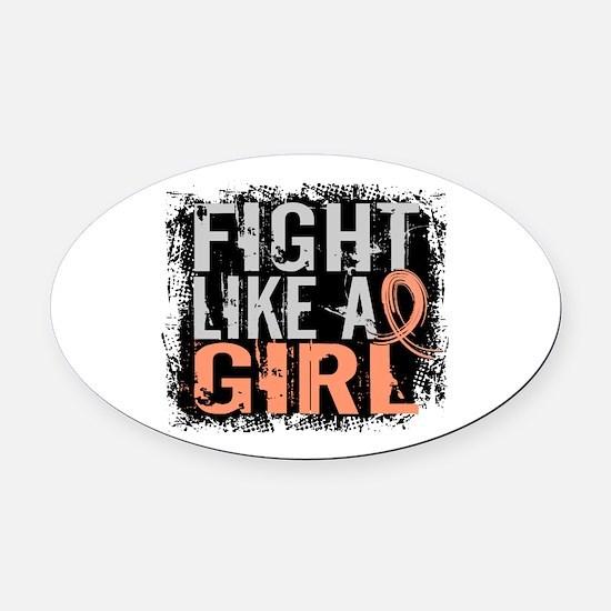 Licensed Fight Like a Girl 31.8 En Oval Car Magnet