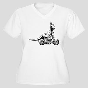 T-Wrecks Women's Plus Size V-Neck T-Shirt