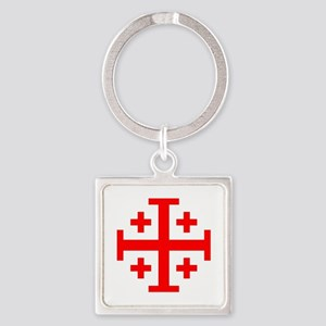 Crusaders Cross (Red) Square Keychain