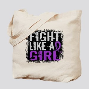 Licensed Fight Like a Girl 31.8 Cystic Fi Tote Bag