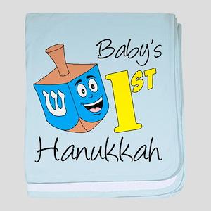 Babys First Hanukkah baby blanket