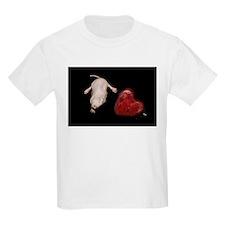 Naked Mole Rat With Heart Kids Light T-Shirt
