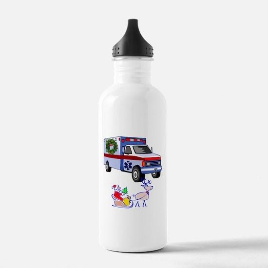 EMT Paramedic Holiday Greetings Water Bottle
