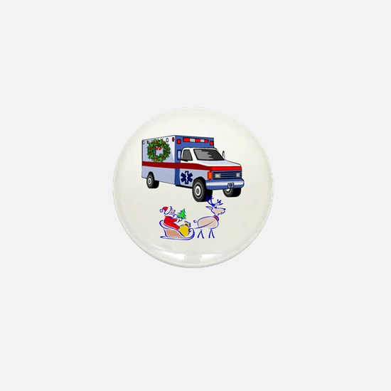 EMT Paramedic Holiday Greetings Mini Button