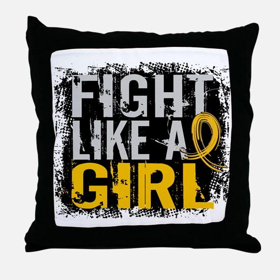 Licensed Fight Like a Girl 31.8 Child Throw Pillow