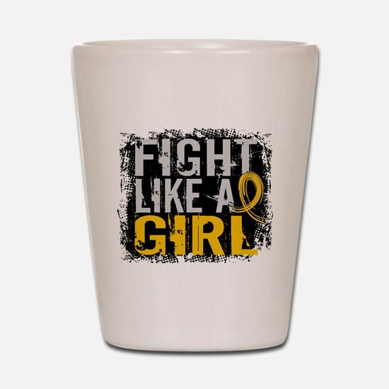 Licensed Fight Like a Girl 31.8 Childho Shot Glass