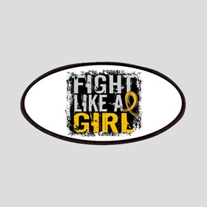 Licensed Fight Like a Girl 31.8 Childhood Ca Patch
