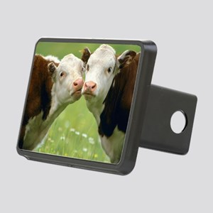 Kissing Cows Rectangular Hitch Cover