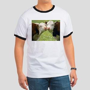 Kissing Cows Ringer T