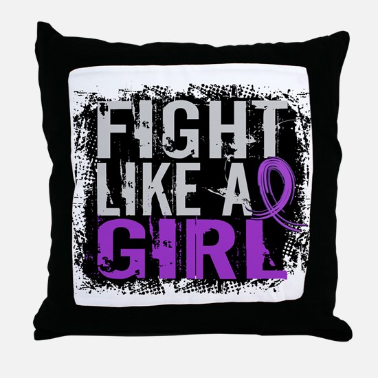 Licensed Fight Like a Girl 31.8 Chiar Throw Pillow