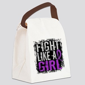 Licensed Fight Like a Girl 31.8 C Canvas Lunch Bag