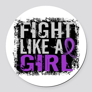 Licensed Fight Like a Girl 31.8 C Round Car Magnet