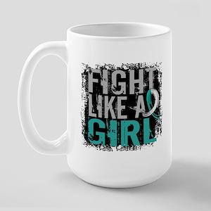 Licensed Fight Like a Girl 31.8 Cervica Large Mug