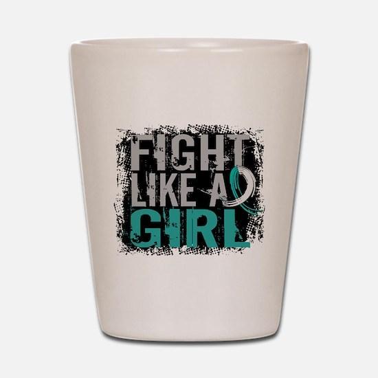 Licensed Fight Like a Girl 31.8 Cervica Shot Glass