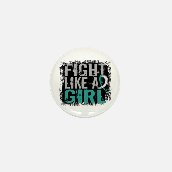 Licensed Fight Like a Girl 31.8 Cervic Mini Button