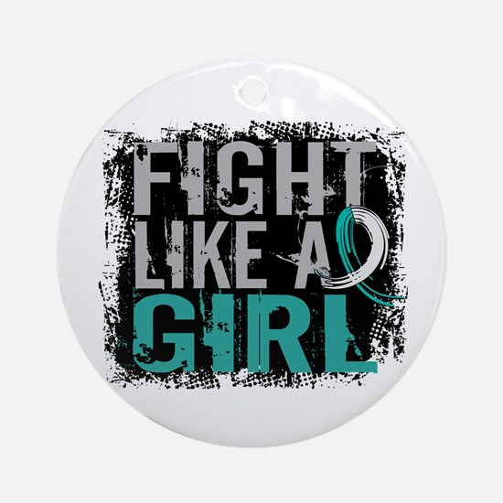 Licensed Fight Like a Girl 31.8 C Ornament (Round)