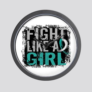 Licensed Fight Like a Girl 31.8 Cervica Wall Clock