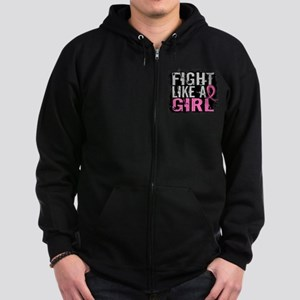 Licensed Fight Like a Girl 31.8 Zip Hoodie (dark)