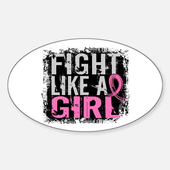 Licensed Fight Like a Girl 31.8 Sticker (Oval)