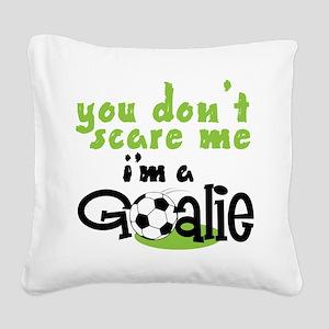 I'm A Goalie Square Canvas Pillow