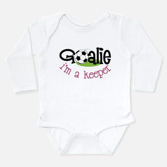 I'm A Keeper Long Sleeve Infant Bodysuit