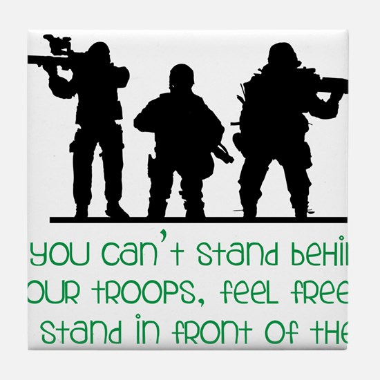 Our Troops Tile Coaster