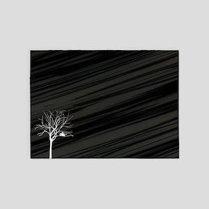 Winter Tree 5'x7'Area Rug