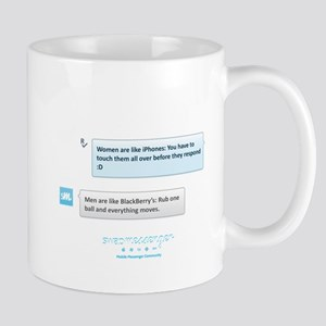 iPhones and BlackBerrys Mug