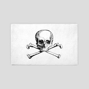 Skull and Crossbones 3'x5' Area Rug