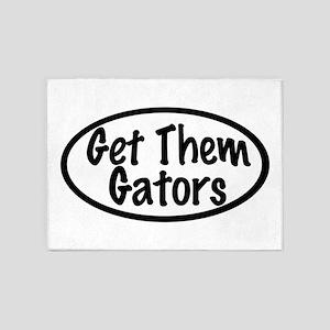 Get Them Gators 5'x7'Area Rug