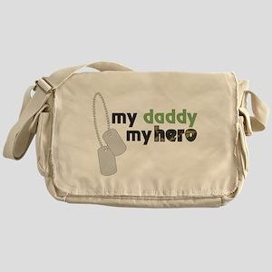 My Daddy My Hero Messenger Bag