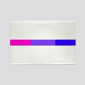Bi Pride Horizontal Bar Rectangle Magnet