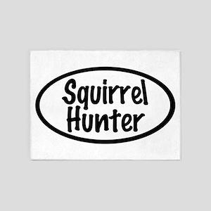 Squirrel Hunter 5'x7'Area Rug