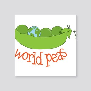 "World Peas Square Sticker 3"" x 3"""