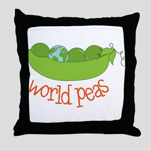 World Peas Throw Pillow