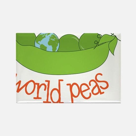 World Peas Rectangle Magnet
