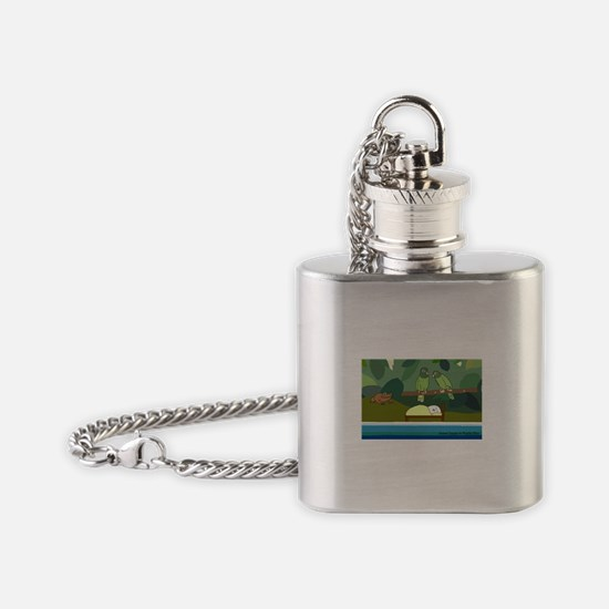 Sweet Dream in Puerto Rico Flask Necklace